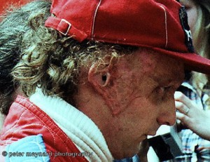 World Champion, Niki Lauda (McLaren).